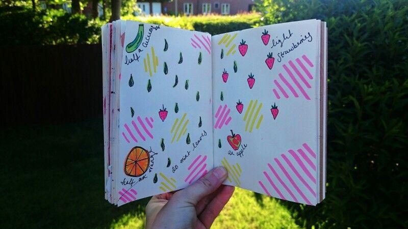 My favourite summery drink... Pimms!    #artjournal #sketchbook #drawoutside #illustration #drawmylife #makeyourmarkjune