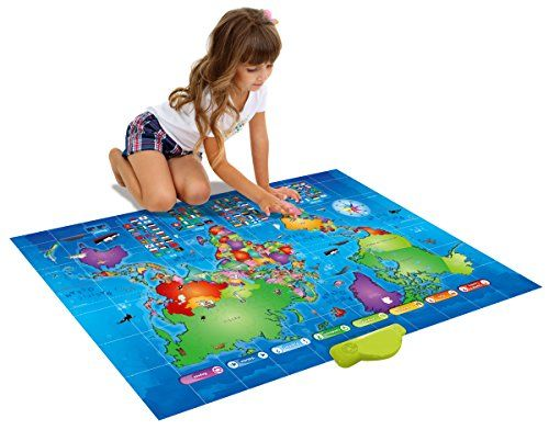 PushToTalk Kids World Map Learn Over 1000 Facts Quizzes About 92 - best of world map countries picture