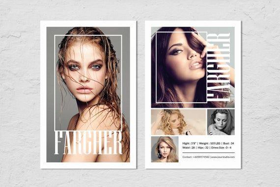 Modeling Comp Card Template Model Comp Card Photoshop Etsy In 2021 Model Comp Card Model Headshots Photoshop Template