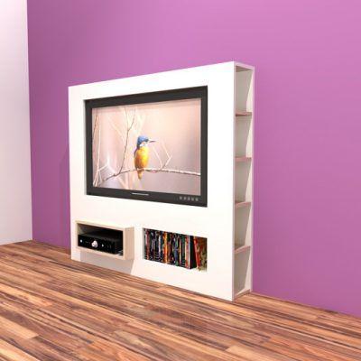 Zelfbouw Tv Kast.Werktekening Modern Tv Meubel Antonio Meubels Meubelontwerp En