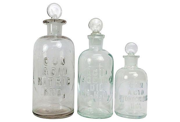 Lab Glass Bottles Onekingslane Com 169 00 119 00 Glass