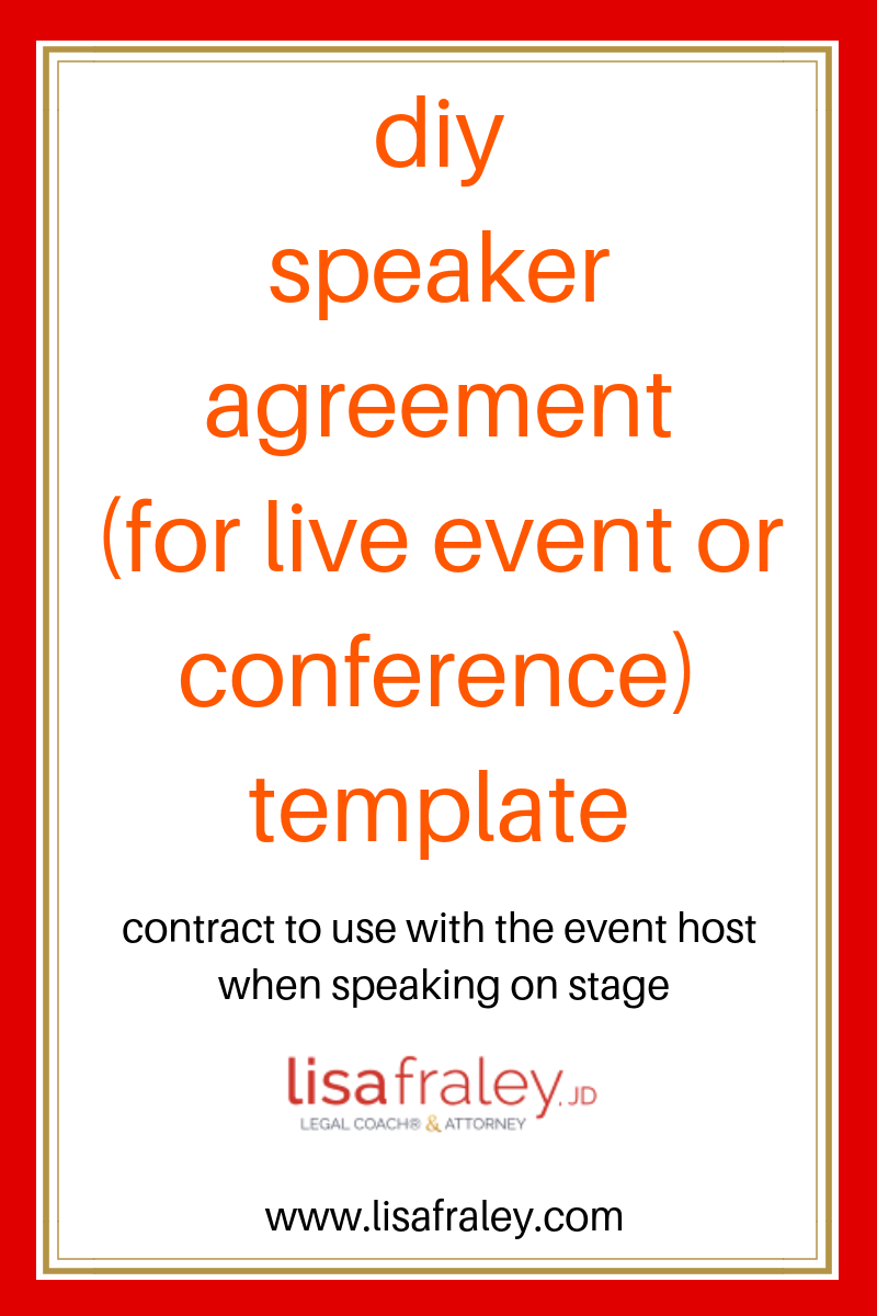 This Is The Diy Speaker Agreement For Live Event Or