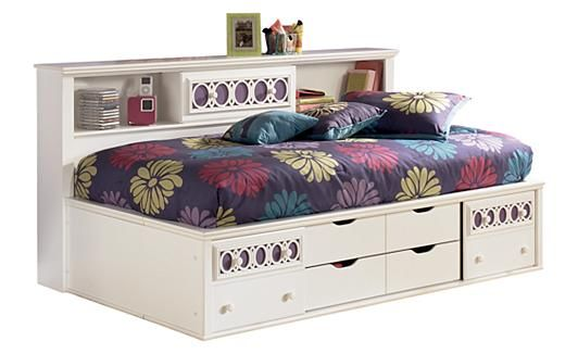 Zayley Twin Bookcase Bed Color Replicated White Paint