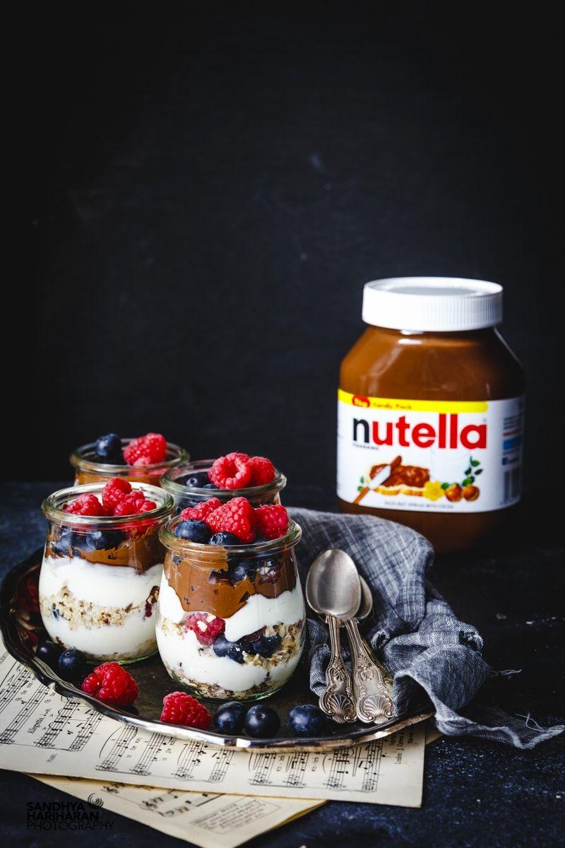 Nutella Bircher Muesli Yogurt Parfait Muesli, Nutella