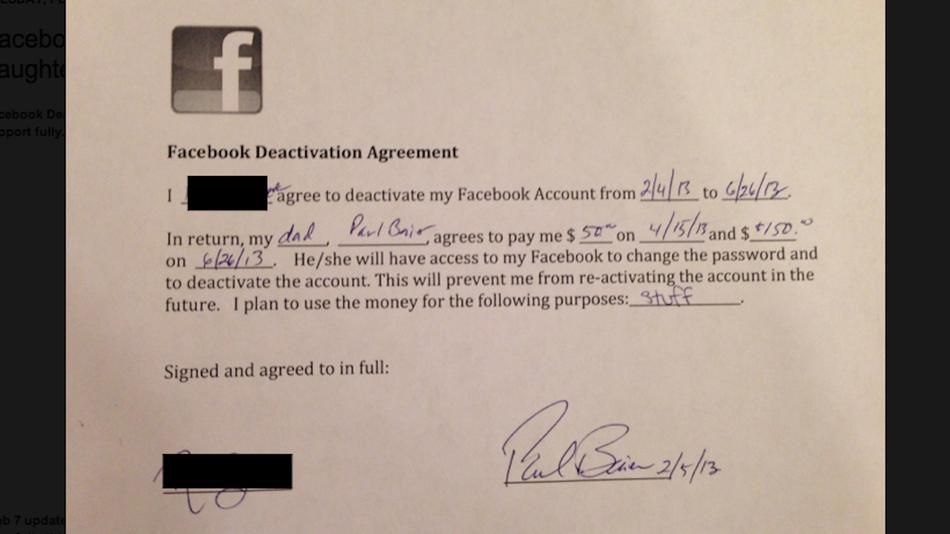 No Facebook for Five Months \u2014 It\u0027s in Your Contract
