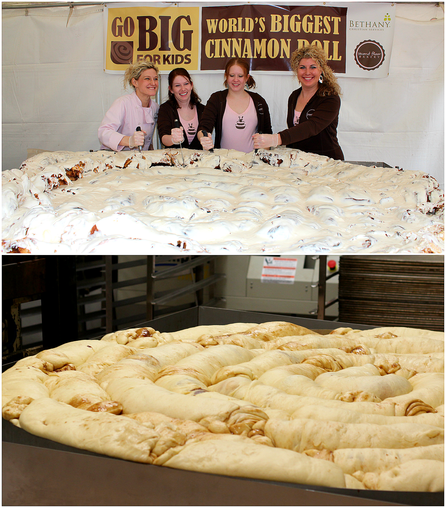 The Record For The Largest Cinnamon Roll Is 276 Kg (609 Lb) And Was. Hall  DecorationsHolland MichiganMichigan ...
