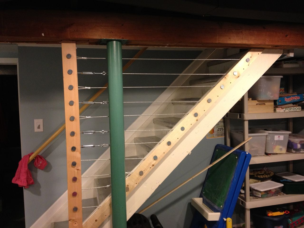 Best Unfinished Basement Railing Keeps Kids Safe Basement 400 x 300