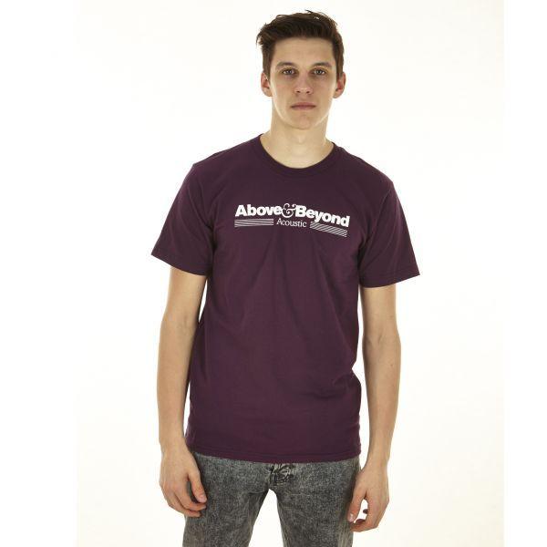 Mens Above & Beyond Acoustic T-Shirt (Eggplant) - £21.99