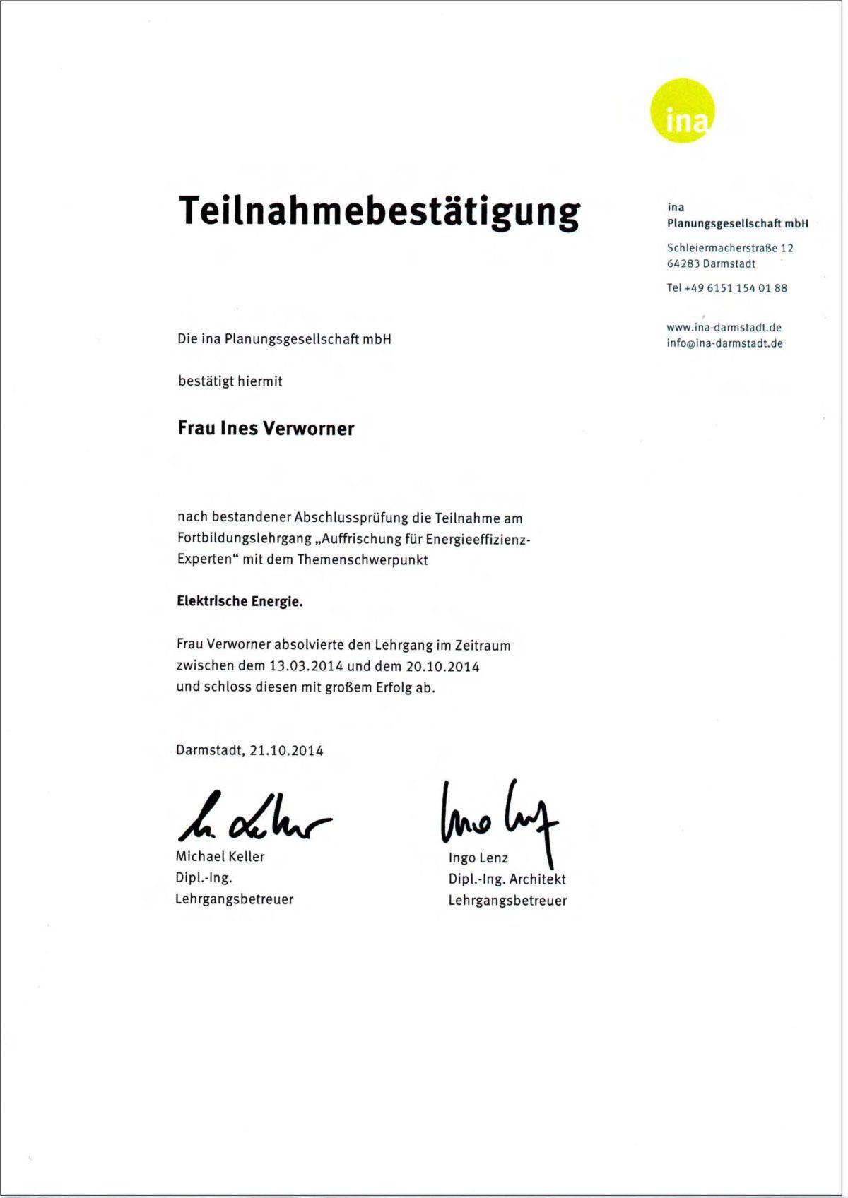 Ines Verworner, Berlin, Architektin, Energieberaterin ...