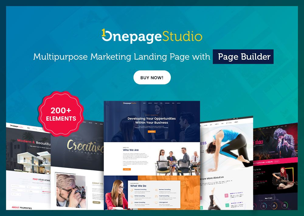 Onepage Studio - Multipurpose Landing Page with Page Builder ...