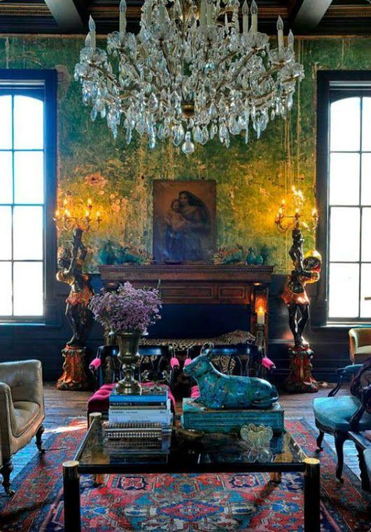 Kräftige Farben, Wohnräume, Wohnzimer, Deko Ideen, Georgianische  Inneneinrichtung, Bohème