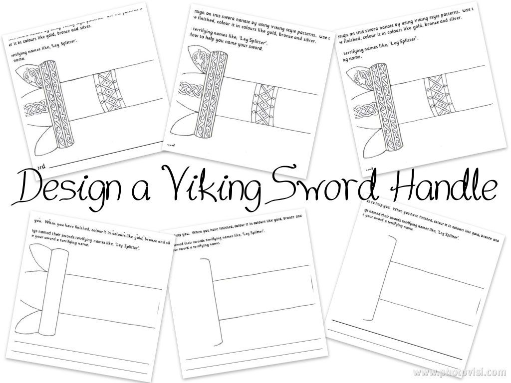 worksheet Line Design Worksheet Six design a viking sword handle differentiated six ways awesome worksheets aimed at primary key stages 1 and ways