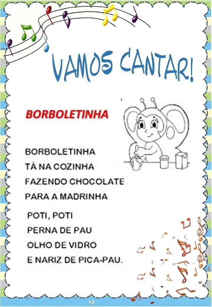 Pin De Isaura Ferreira Em Linguagem Parlendas Educacao Infantil