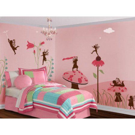 Buy My Wonderful Walls Fanciful Fairies Wall Stencil Kit at Walmart.com