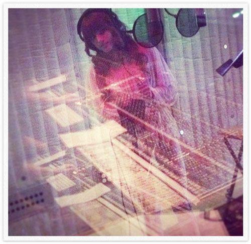 in the studio!!! <3 <3 <3