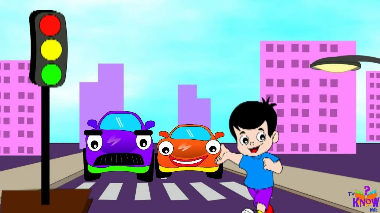 For road safety kids should learn about traffic lights and