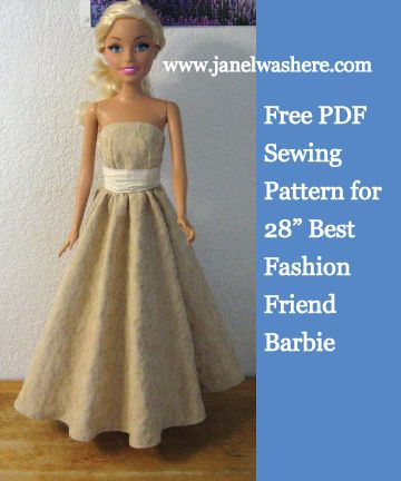 Barbie Best Fashion Friend 28 inch doll - Free pdf sewing pattern ...