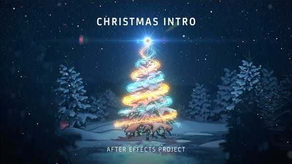 Christmas Tree Intro After Effects Video In 2020 Christmas Tree Template Christmas Templates Animated Christmas