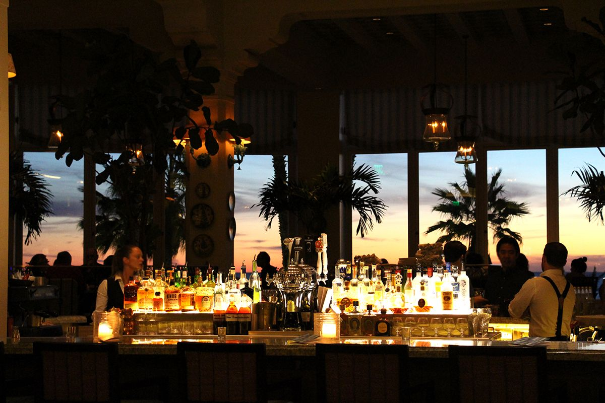 Terrazza Lounge Bar At Sunset At Luxury Beach Hotel Casa Del