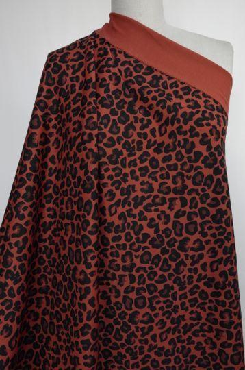 Marcy Tilton - Knit Fabrics - Rust Leopard Ponte