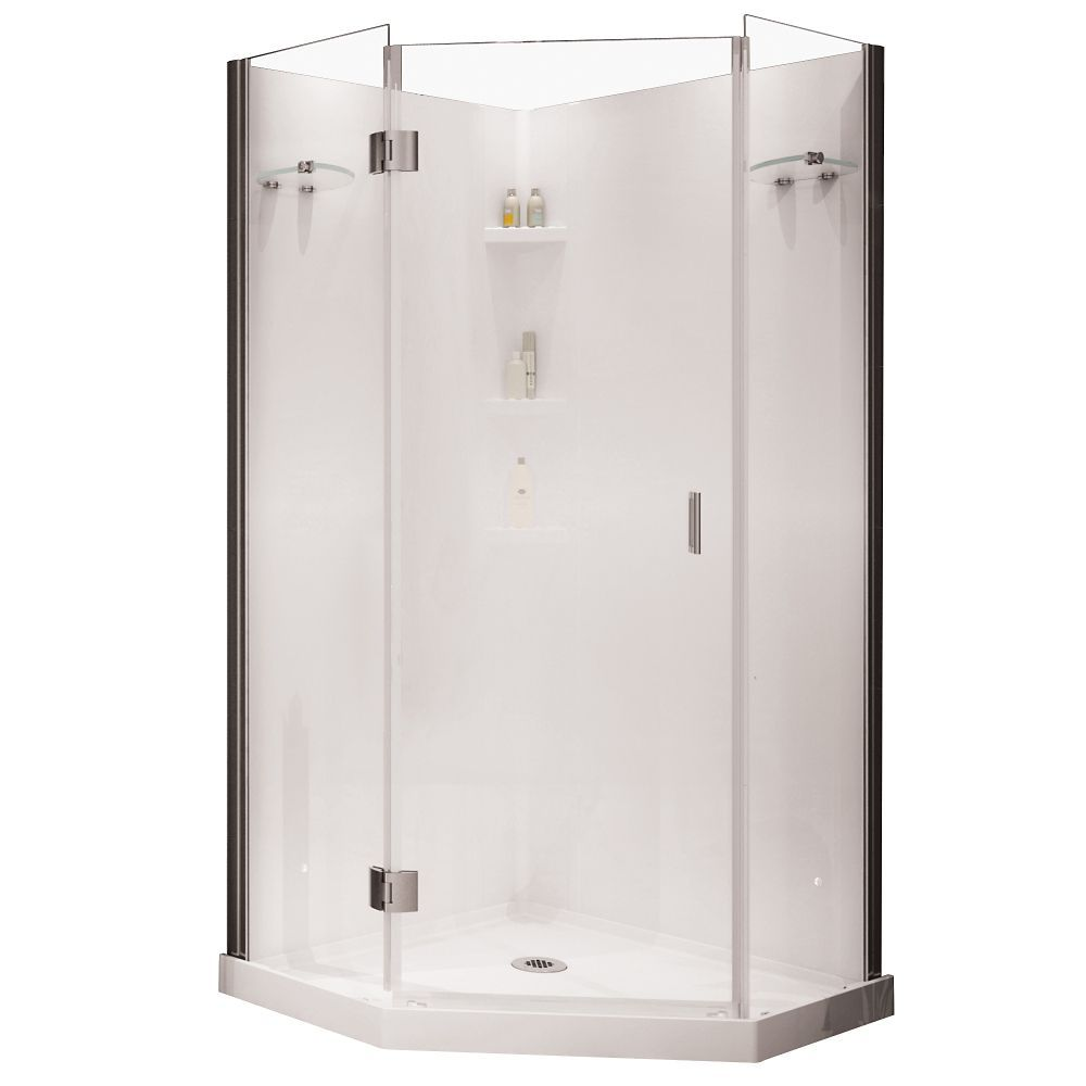 Yarrow Neo Angle Polystyrene Frameless Shower Kit Corner Shower