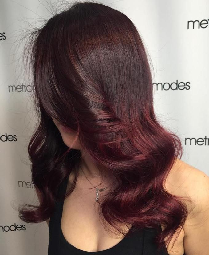 45 Shades Of Burgundy Hair Dark Maroon With Red Purple And