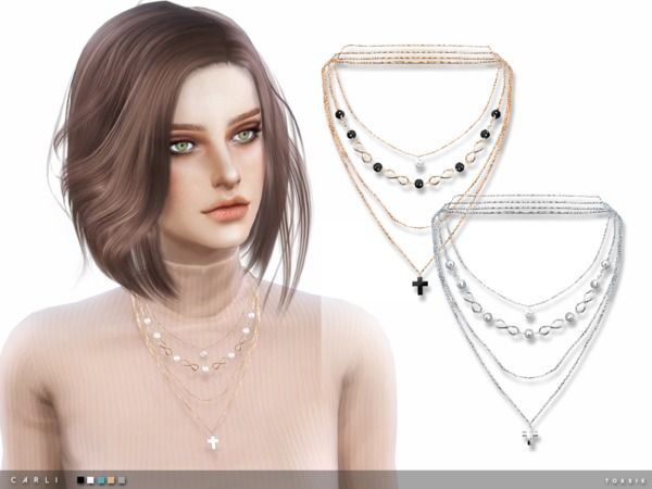 comment acheter dernier bons plans 2017 The Sims Resource: Carli Necklace by Taty • Sims 4 Downloads ...
