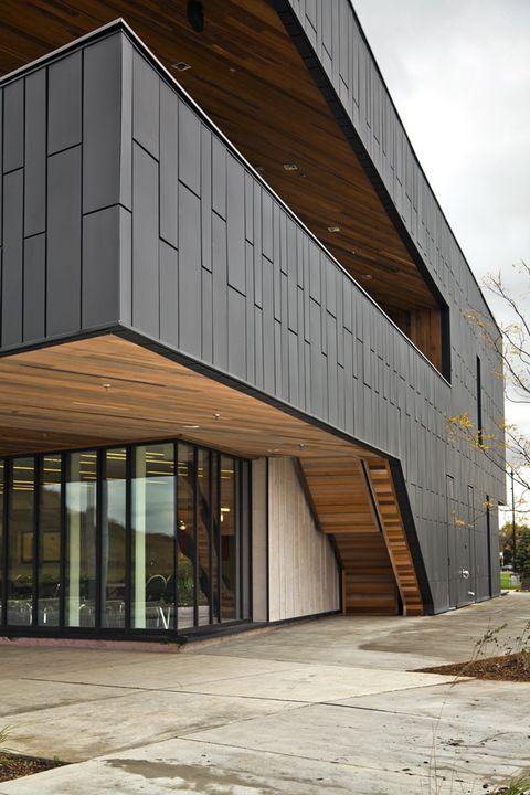 Wall Panel Dri Design From Vmzinc Architecture Exterior Metal Panels Facade Facade Architecture
