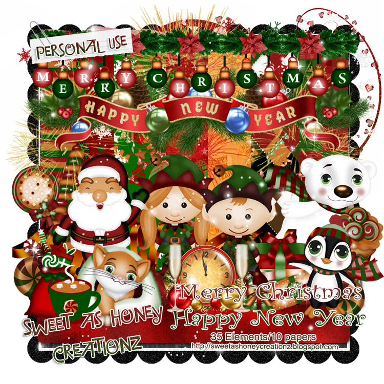 Sweet As Honey Creationz: New FTU Kit - Merry Christmas Happy New ...
