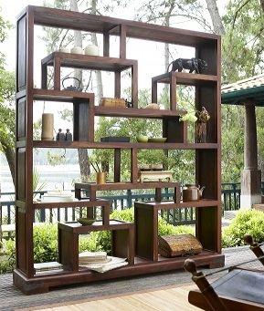 biblioth que d structur e lombok en bois exotique massif il s 39 acclimatera votre int rieur c. Black Bedroom Furniture Sets. Home Design Ideas