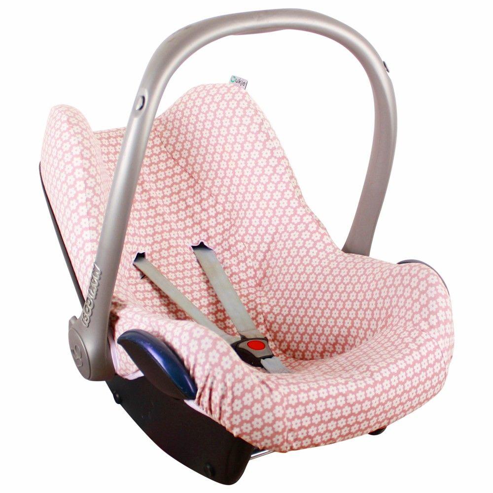 Hoesje Oudroze Bloemetjes Laatste Baby Car Seats Maxi Cosi Prams