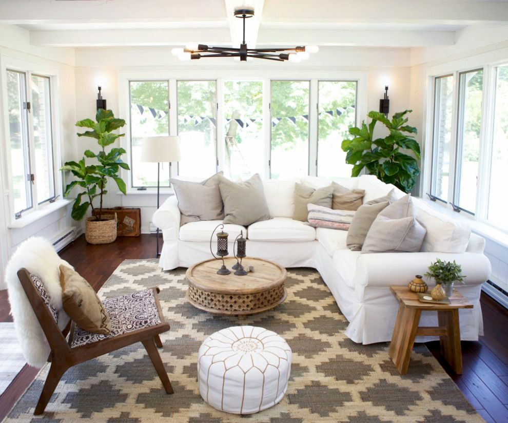 sunroom living room table sets cheap a home designed for family in wisconsin 2019 lerustique outdoor from design sponge reorient this and it s basically what we want the