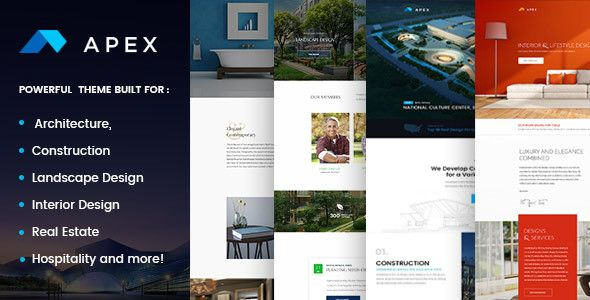 Apex Construction Builders Landscapers Architects WP Theme By