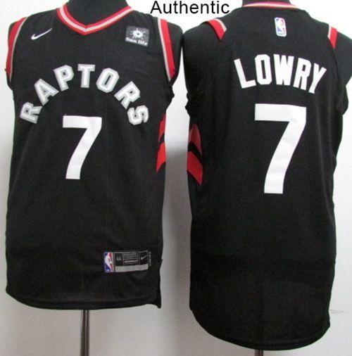 01f95adaab5 Nike Raptors #7 Kyle Lowry Black NBA Authentic Statement Edition Jersey