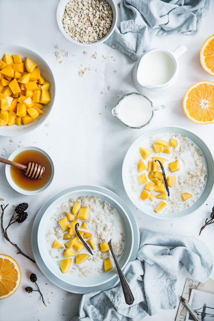 porridge mit mango vanille und orangen fr hst cksideen. Black Bedroom Furniture Sets. Home Design Ideas