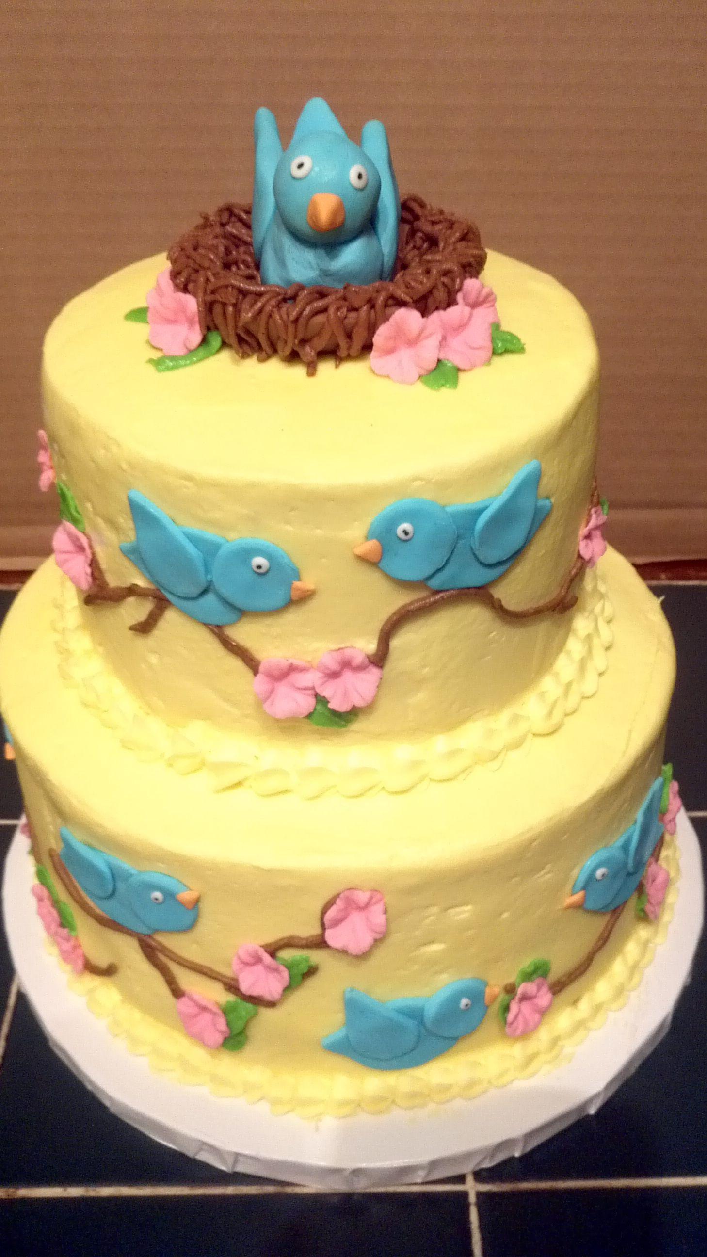 Bird Cake Moms 70th Birthday