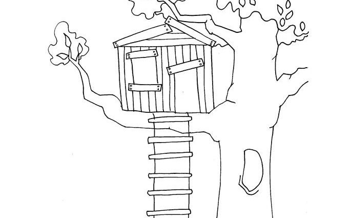 Magic Tree House Coloring Pages House Colouring Pages Magic Treehouse Tree House
