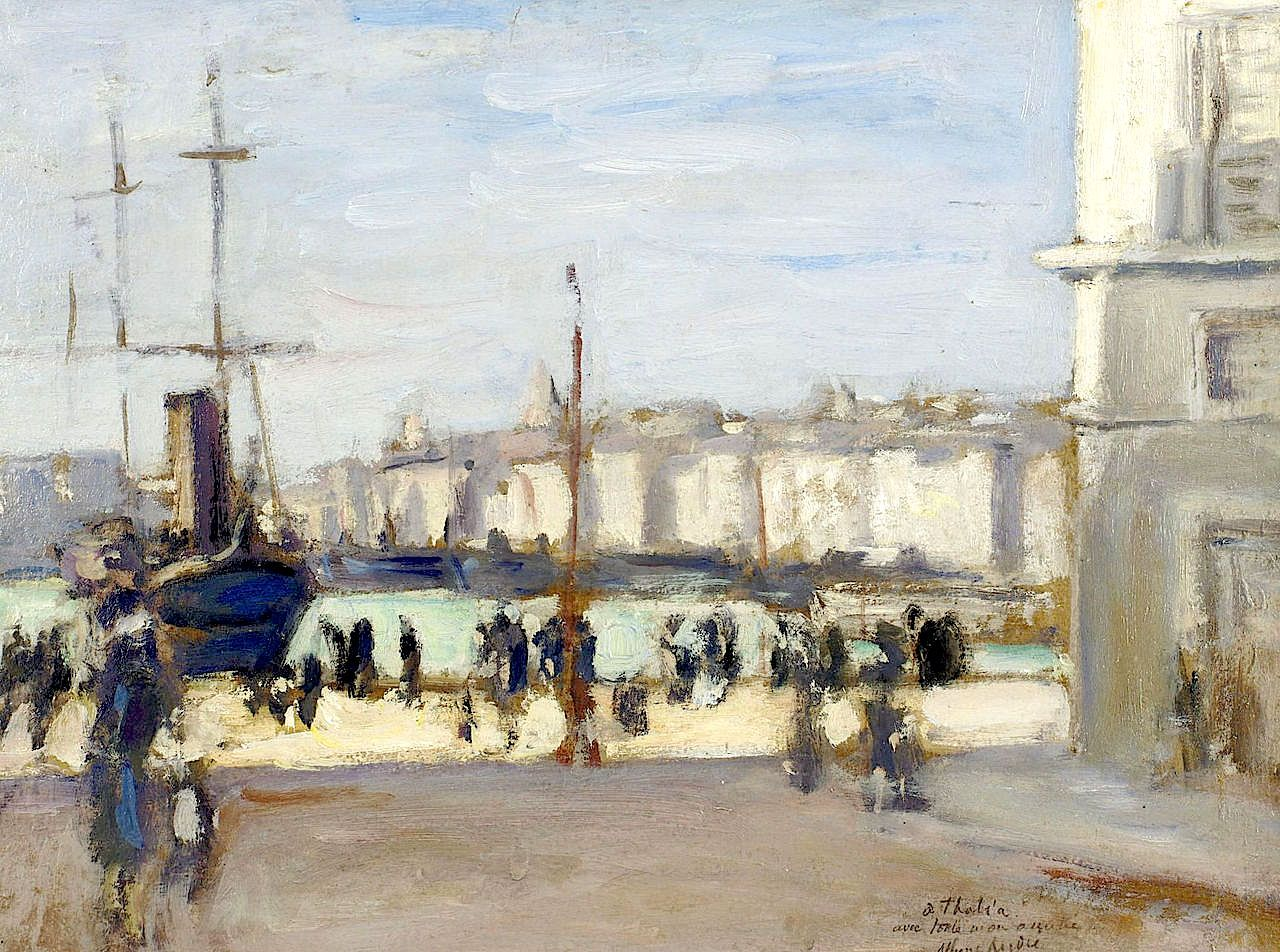 "port of marseille,"" albert andré, 1918 