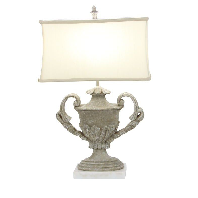"""Poly Stone Marble 29"""" Table Lamp"""