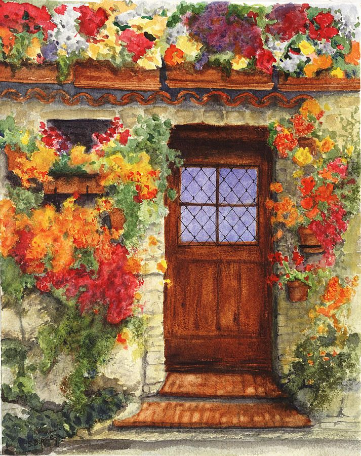 tuscany doorways painting | Tuscan Door by Sherry Burnett & tuscany doorways painting | Tuscan Door by Sherry Burnett | Tuscany ...