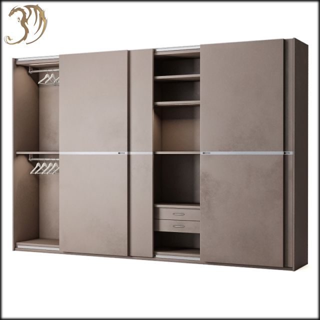 Bangkok Coupe 4 Doors Slide Wardrobe 3d Model In 2020