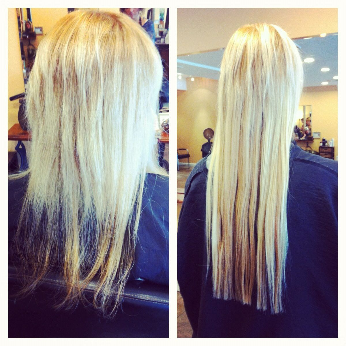 Hair Extensions To Help Ease The Grow Out Of Damaged Hair These Extensions Are So Gentle They Will Not Cause Any Damage To Exis Damaged Hair Hair Hair Styles