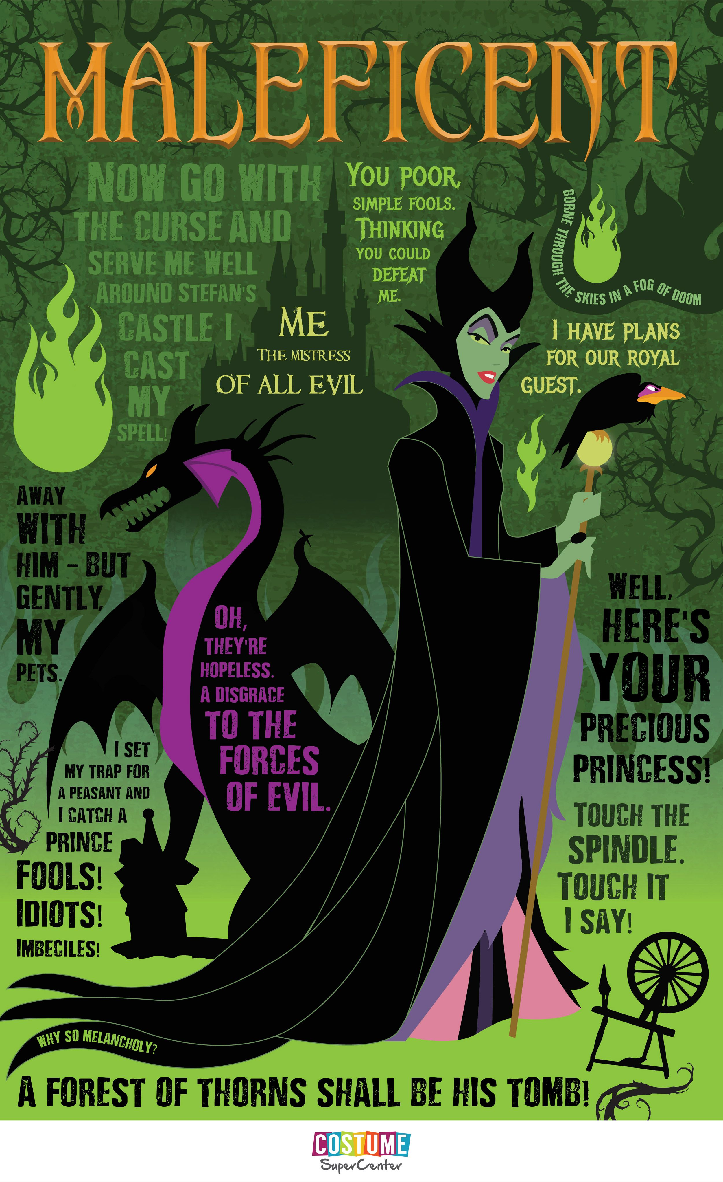 The Mistress of All Evil Maleficent Quotable [Infographic