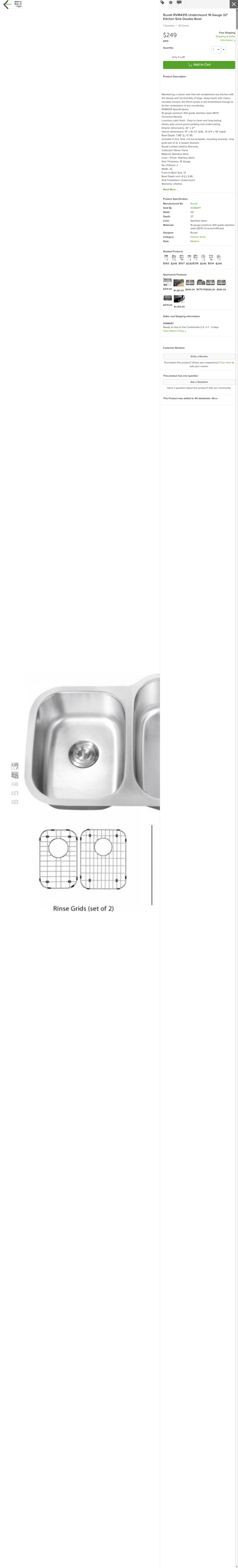 Website'http%3A%2F%2Fwww.houzz.com%2Fphotos%2F11143322%2FRuvati-RVM4315-Undermount-16-Gauge-32-Kitchen-Sink-Double-Bowl-modern-kitchen-sinks' snapped on Page2images!