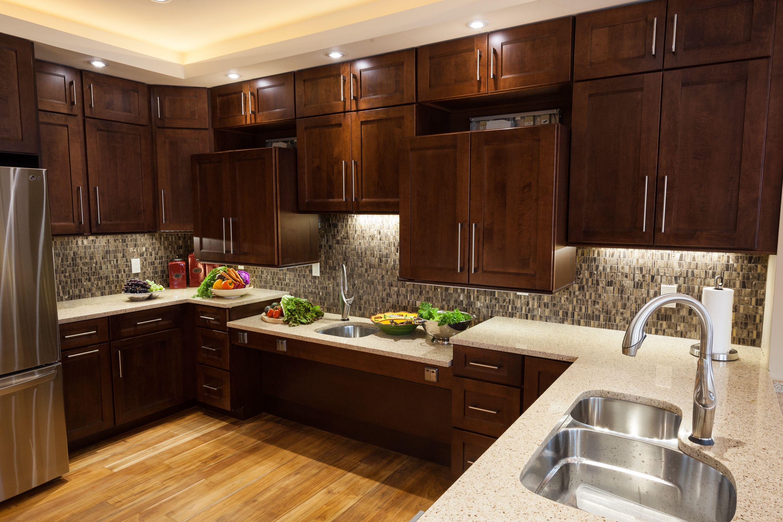 Namen von küchenschränken lowered counter and movable cabinets allow folks in wheelchairs to