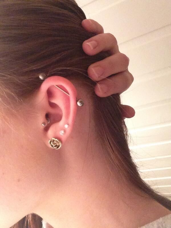 Marie Heimdal on | Ear piercings | Lobe piercing ...