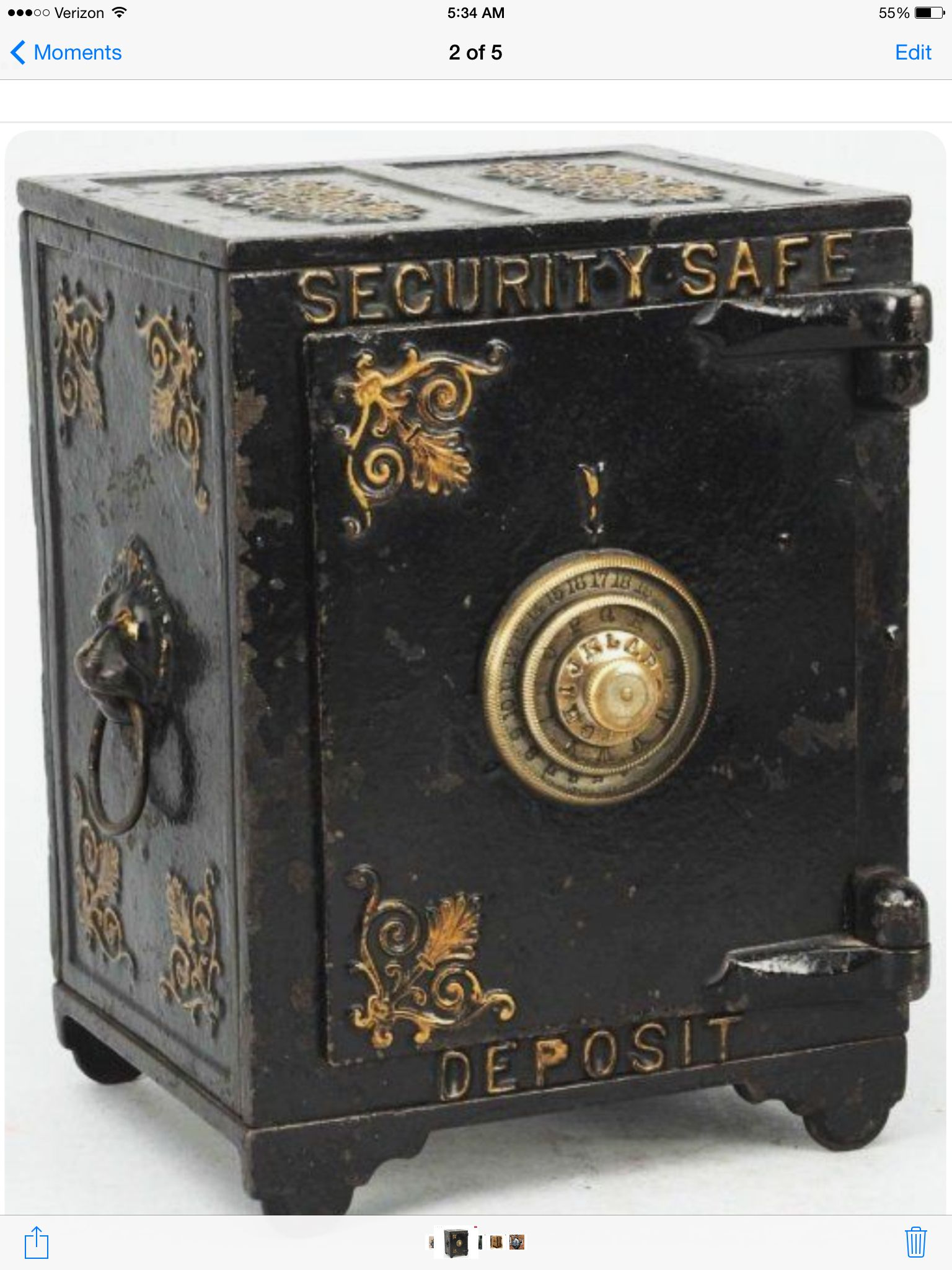 Vintage Antique Safe Security Safe Antique Iron