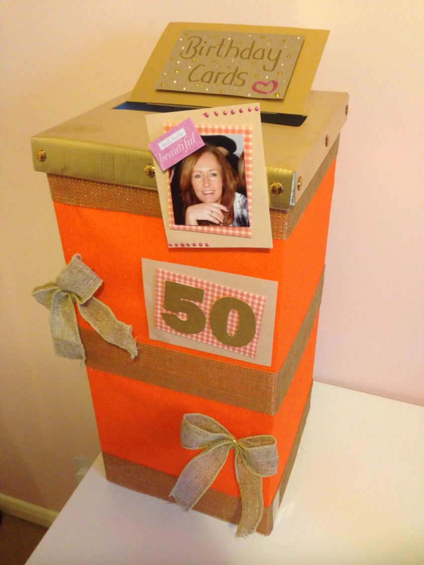 I Made This Diy Post Box For Birthday Cards At My Cousins 50th Party