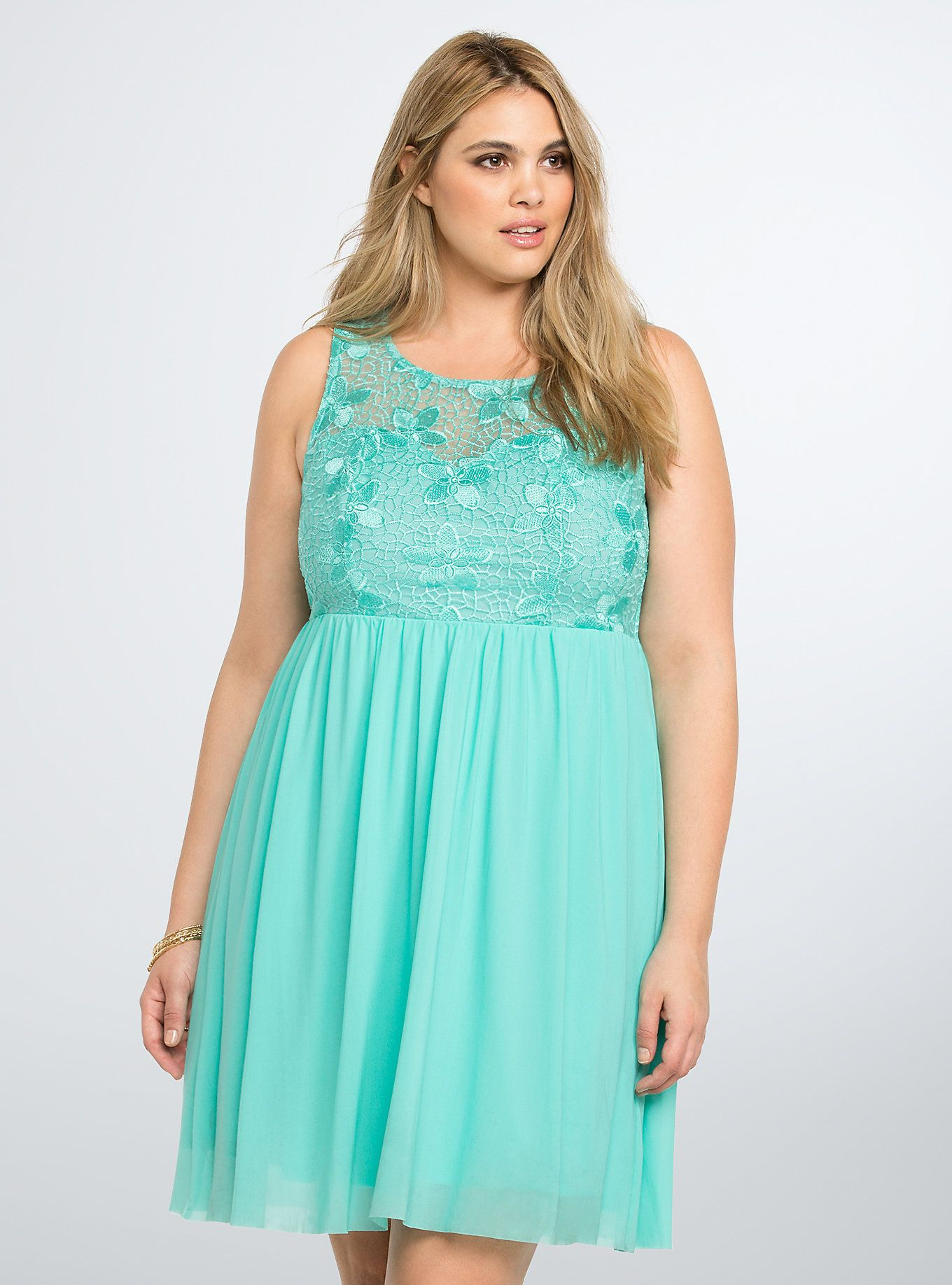 Lace & Mesh Skater Dress Need a go-to cocktail dress? We got you ...