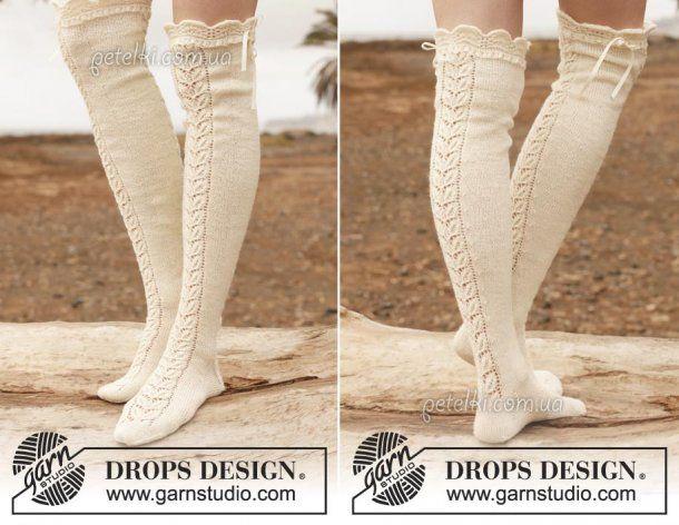 вязаные чулки от дропс описание схемы носкиварежки вязание